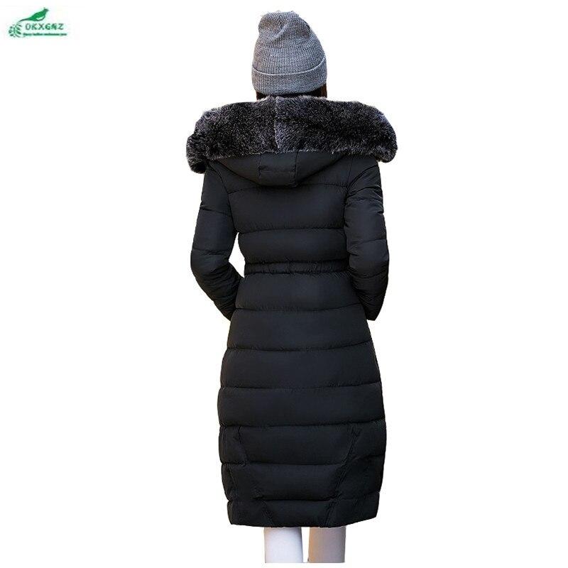 Capuchon D'hiver Longue Coréennes Femmes À Black Épaississement Okxgnz Section Col Coton Fourrure Survêtement gray pink Manteau Qq1010 De Vêtements Épais S4q6w61Y