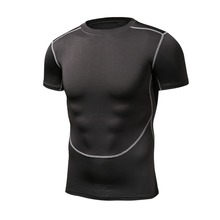 Mr.BaoLong&Miss.GO Fashion Brand Bodybuilding white shirt 3D Printed Compression Men/Women short sleeve black Crossfit Top