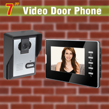 New 7 inch screen video door phone intercom kits video doorbell Wired night vision door camera video doorbell intercom 1V1
