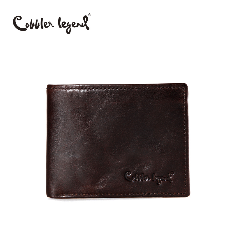 Cobbler Legend Famous Brand Genuine Leather Men Wallets Handmade Men's Wallet Male Money Purses Coins Wallet With ID Card Holder hot sale 2015 harrms famous brand men s leather wallet with credit card holder in dollar price and free shipping