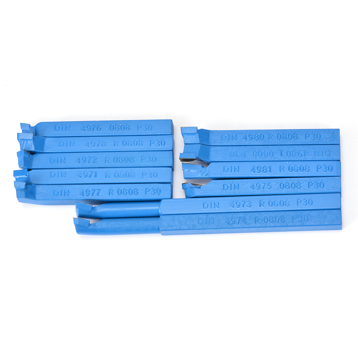 11 stücke 8*8mm Hartmetall Spitze Gekippt Bit Set Gelötete Fräser Werkzeuge Für Metall CNC Drehmaschine