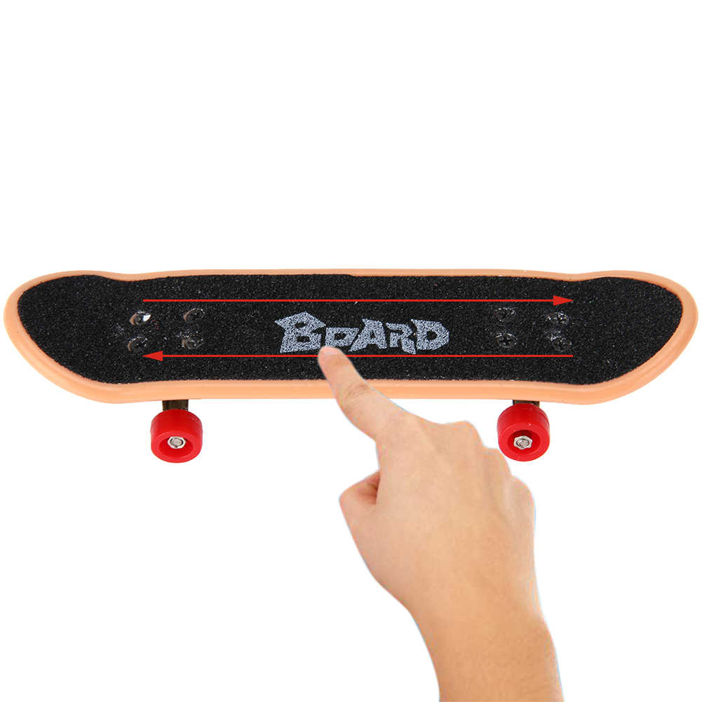 Plastic Mini Finger Skateboarding Fingerboard Toys Finger Scooter Skate Boarding Classic Chic Game Boys Desk Toys w/ Mini Tools