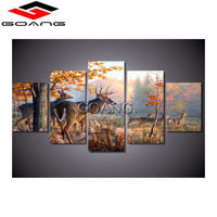 GOANG 5pcs 5d diy diamond painting full square pictures 3d cross stitch diamond painting forest deers mosaic home decoration