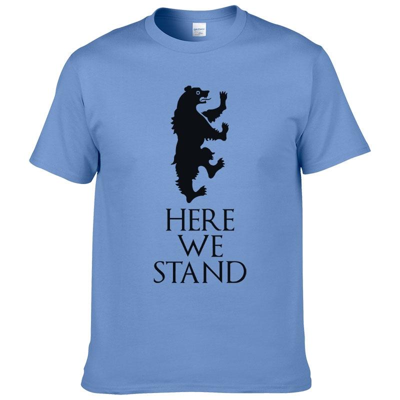 2019 Game of thrones T-Shirt maison Lannister ici nous nous tenons t-shirts mode décontracté coton T-Shirt pour hommes femmes TF