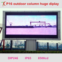 P16 outdoor dip full color led display for waterproof huge screen wafer chips reversed polarity 8500cd