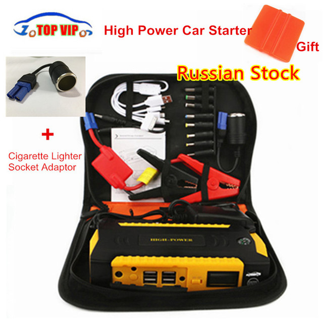 Super Power 16000mah High Capacity Starting Device Booster 600A 12V Portable Car Jump Starter Power Bank Car Starter Diesel