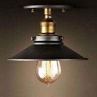 Loft Vintage Ceiling Lamp Round Retro Ceiling Light Industrial Design Edison Bulb Antique Lampshade Ambilight Lighting