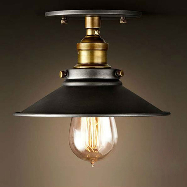 industrial design lighting fixtures. Loft Vintage Ceiling Lamp Round Retro Light Industrial Design Edison Bulb Antique Lampshade Ambilight Lighting Fixtures R