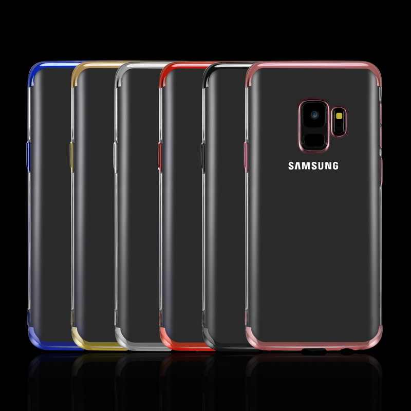 TPU นุ่มสำหรับ Samsung Galaxy S8 S9 Plus S6 S7 Edge A7 2018 A5 2016 A3 A8 Ultra บางสำหรับ S10E A10 Plus