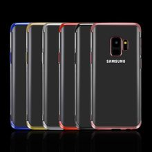 Plating Zachte TPU Cases Voor Samsung Galaxy S8 S9 Plus S6 S7 Rand A7 2018 A5 2016 A3 A8 Ultra dunne Cover Voor S10E A10 Plus Case(China)
