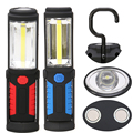New Super Bright LED Flashlight Torch Work Stand Light Magnetic+HOOK Outdoors Camping Sport & Home Use 3*AA Battery