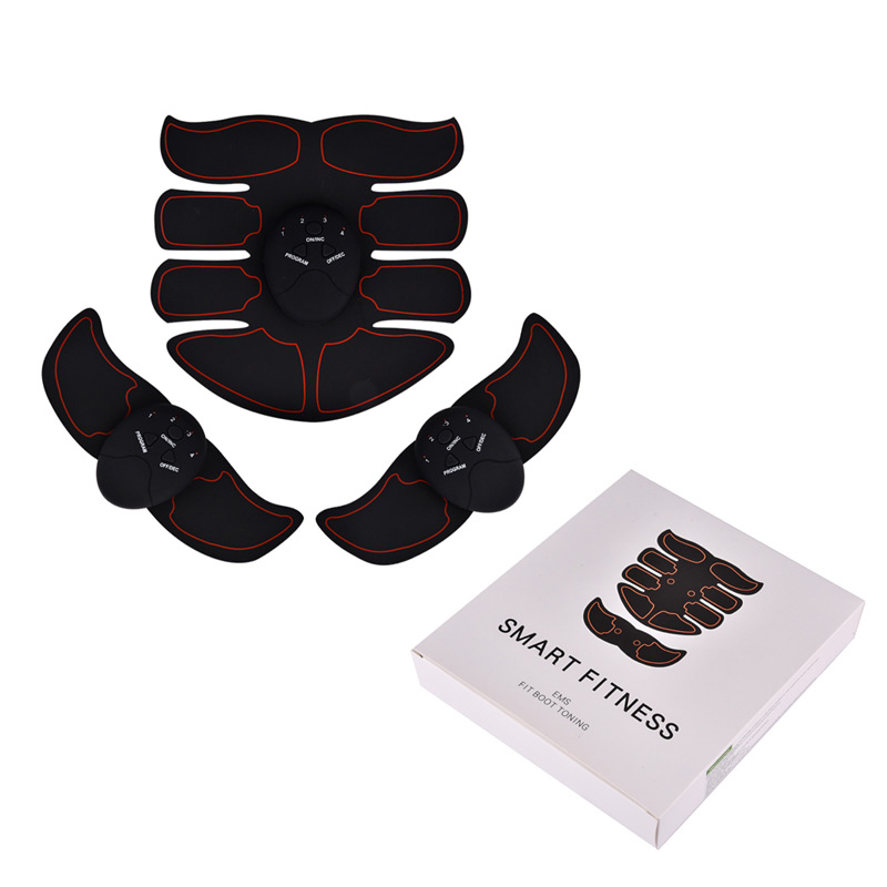 EMS Abdominal Muscle Training Stimulator Device Wireless Belt Gym Professional Body Slimming Massager Home Fitness Beauty Gear 3pcs set wireless intelligent abdominal muscle trainer lacy body massager fitness equipment for home use for women hot sale