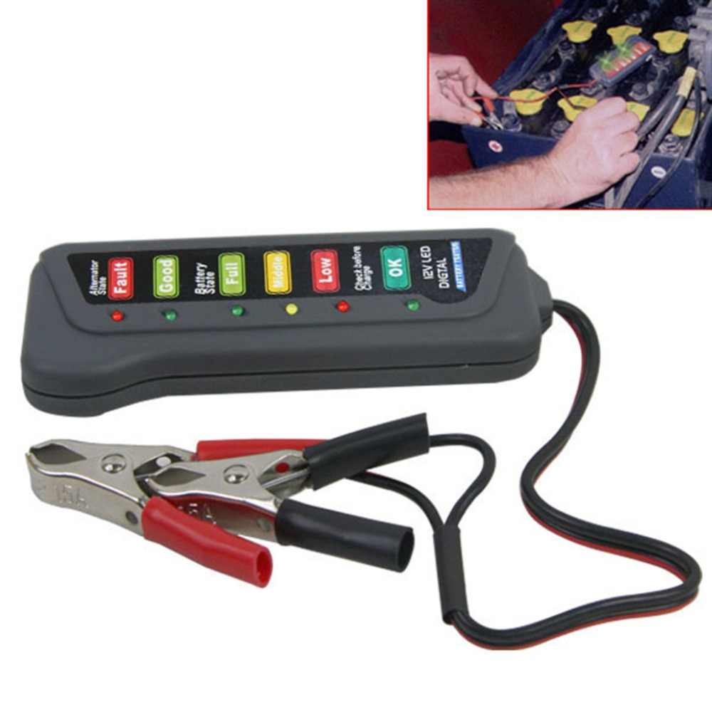 A + + + + Kualitas LED Digital Baterai Alternator Tester Baterai Tester Baterai Monitor Tingkat untuk Mobil Motor Truk 12 V