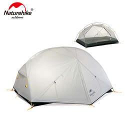Naturehike Mongar 2 Persons Camping Tent 20D Nylon Fabic Double Layer Waterproof Tent for 3 Seasons NH17T007-M