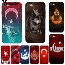 Yinuoda For iphone 7 6 X Case Flag of Turkey Wolf Retrospective Phone for iPhone 6S 8 Plus 5 5S SE XS XR