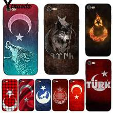 Yinuoda For iphone 7 6 X Case Flag of Turkey Wolf Retrospective Phone Case for iPhone 7 X 6 6S 8 Plus 5 5S SE XS XR(China)