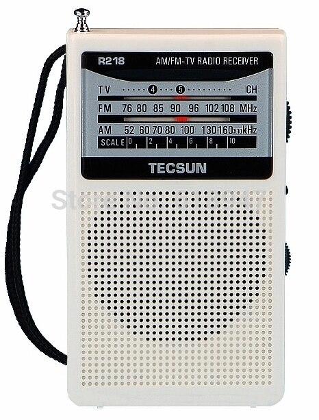Radio Tecsun R-218 Am/fm/tv Tasche Radio R218 Radio Integrierte Lautsprecher Kostenloser Versand Unterhaltungselektronik
