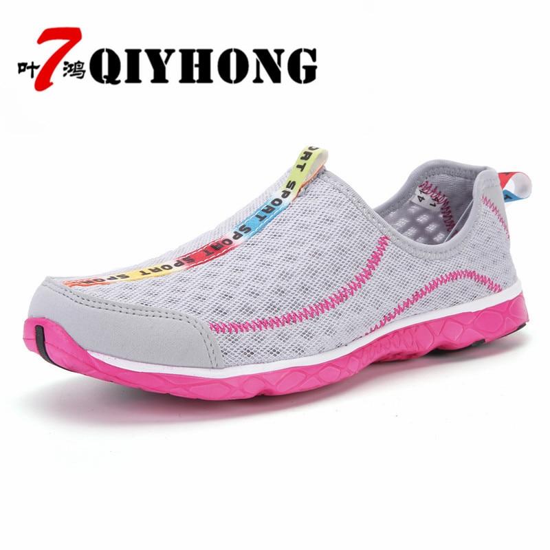 Femmes chaussures été haute qualité respirant maille souple - Chaussures pour femmes