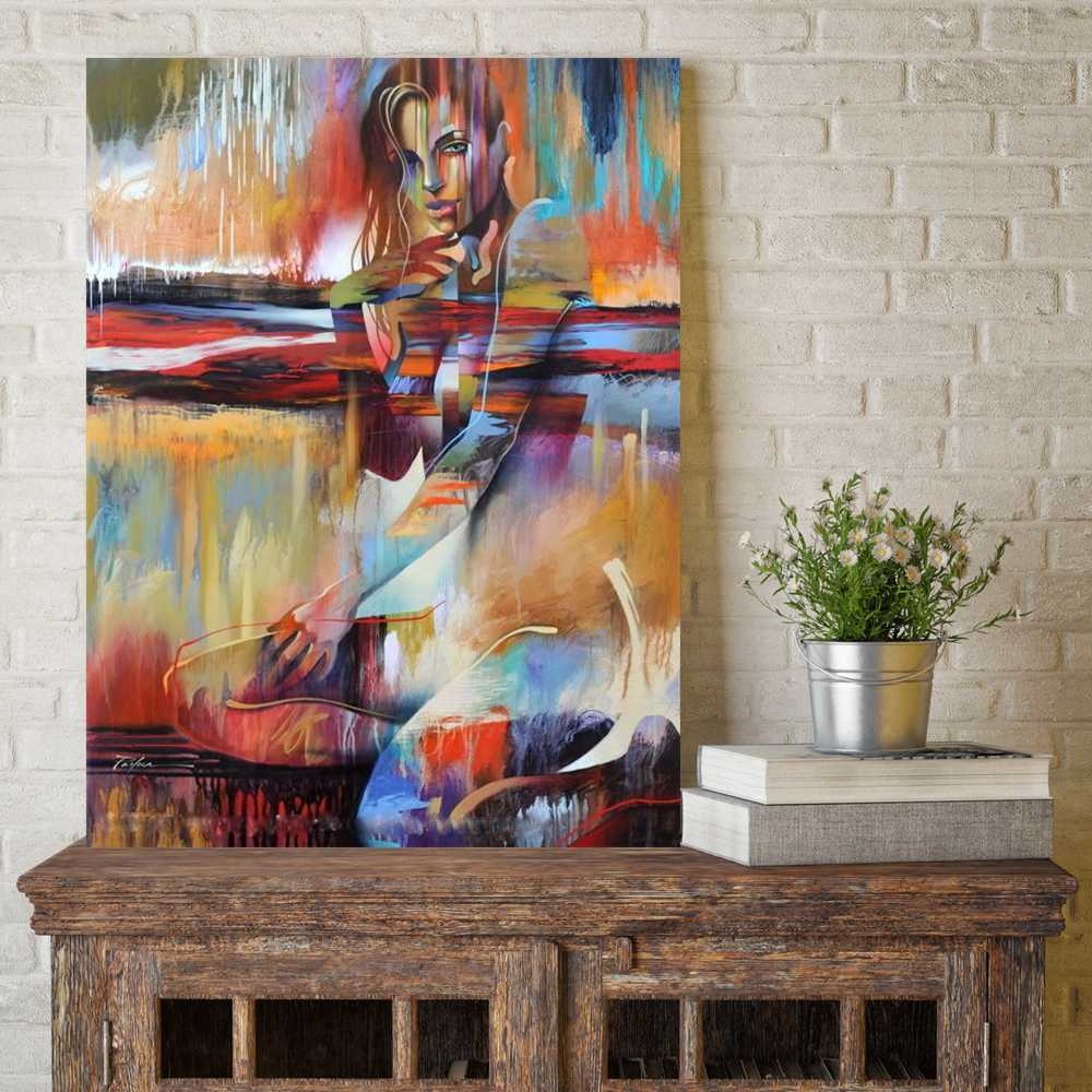 Nude Abstract Beauty Girl Portrait Painting Print On Canvas Wall Art Picture for Bedroom Modern Home Space Decor Drop shipping