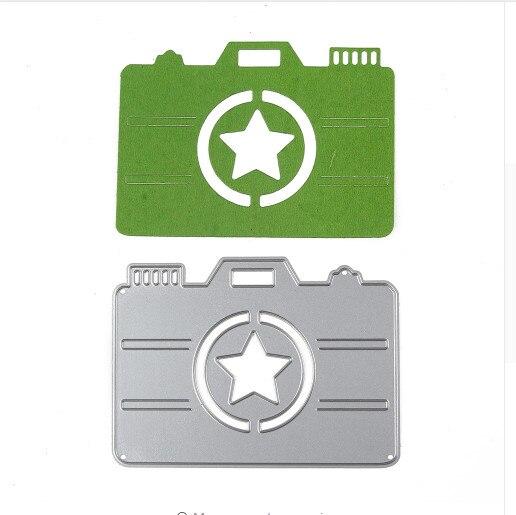 10*7CM Star Camera Metal Cutting Dies Stencil Craft 3D DIY Scrapbooking Card Embossing Template Making Photo Decoration Supplies