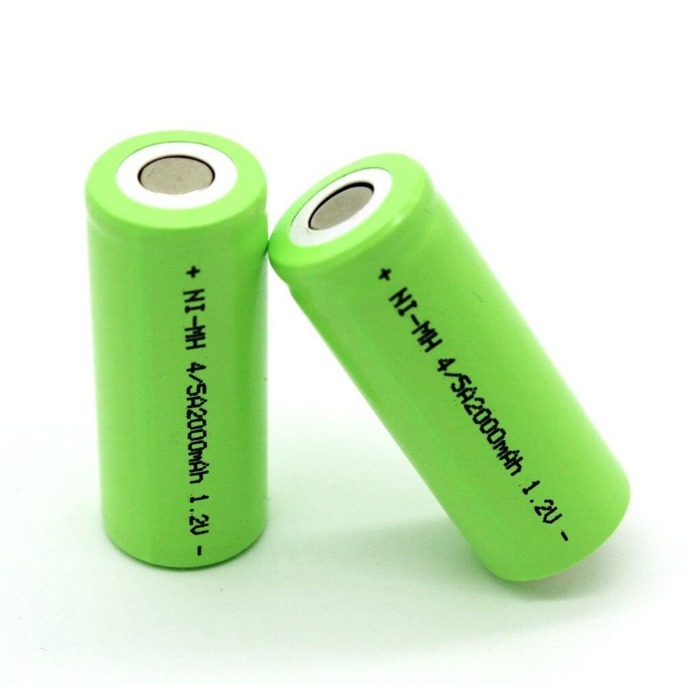 2000 mAh 1 2V 2016 Rechargeable Battery NI MH For LED Flashlight battery