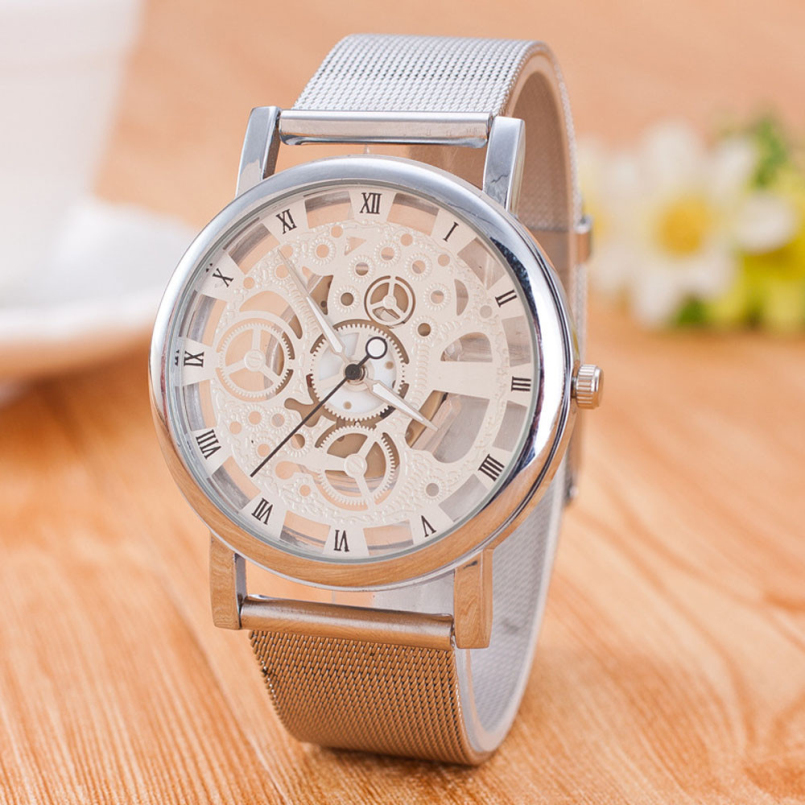 Excellent Quality 2016 New Fashion Silver Plated Stainless Steel Quartz Wrist Watch Women Watches Lovers Watches relojes mujer