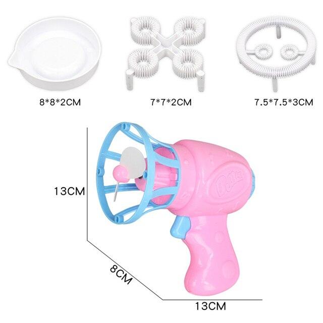 Máquina sopladora de burbujas, juguete para niños, pistola de agua y jabón, pistola de agua de dibujos animados, regalo para niños, pistola Manual 5