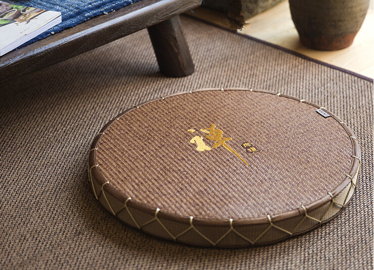 Floor Seating Chair Cushion Zabuton Zafu Round 45cm Meditation Seat Japanese Tatami Mat Zafu Zabuton Cushion Straw