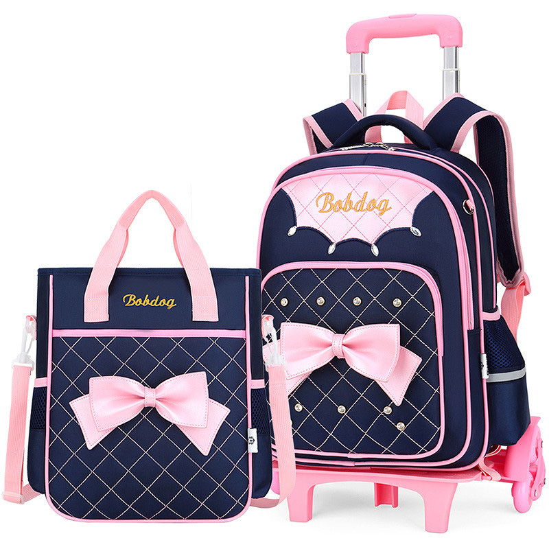 트롤리 학교 가방 3 바퀴 배낭 어린이 여행 가방 롤링 수하물 schoolbag 어린이 mochilas bagpack 핸드백-에서학교가방부터 수화물 & 가방 의  그룹 1