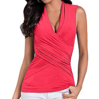 2016 Summer Style Women Fashion Summer Vest Top Sleeveless Blouse Casual Tank Tops T Shirt DM