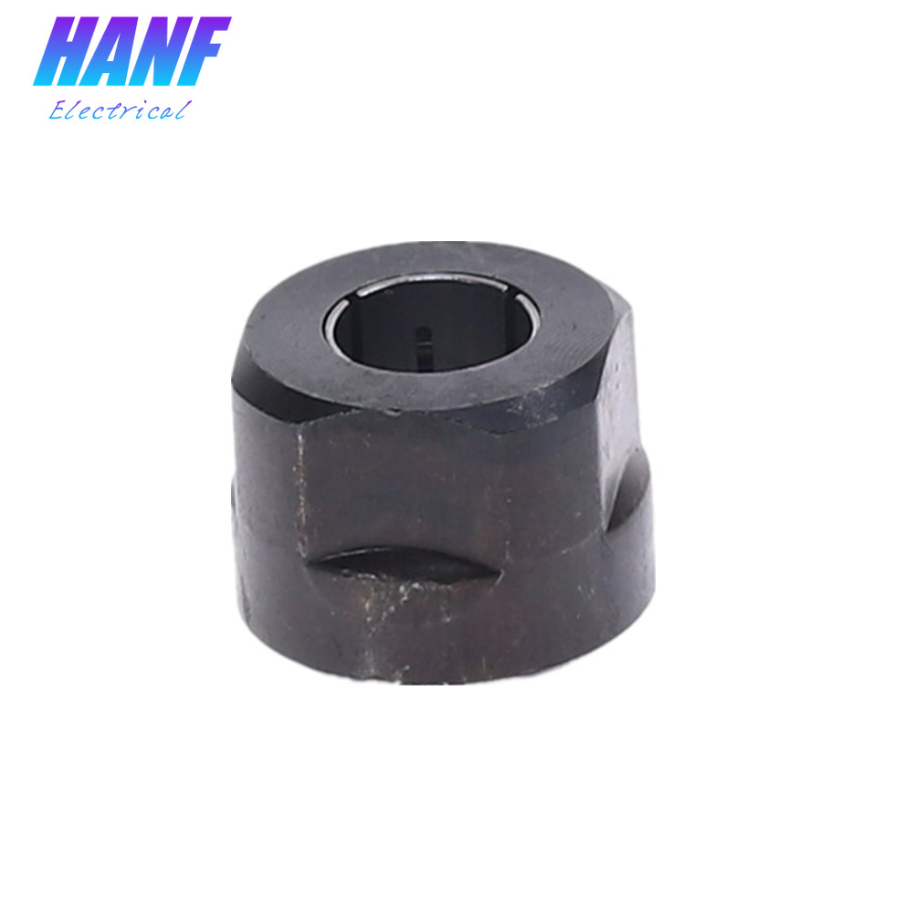 Black Metal Collet Nut Plunge Router Parts 12.7mm Electric Tool Fittings Engraving Machine Fittings 3612 Clamp Nuts 22.5x27mm