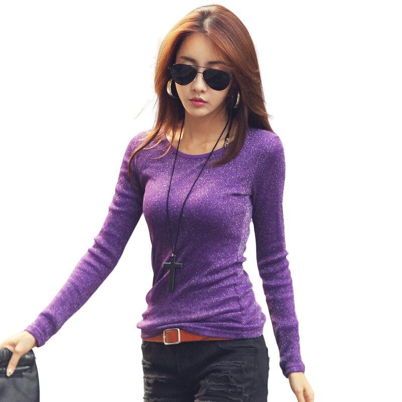 Treroninae Store TRERONINAE women tee shirts long sleeve female cotton t shirt 2017 spring autumn winter warm top plus size O-neck undershirts