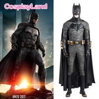 Batman Costume Halloween Superhero Costumes Adult Batman Superman Justice League Batman Costume Boots Cloak Jumpsuit Custom Made