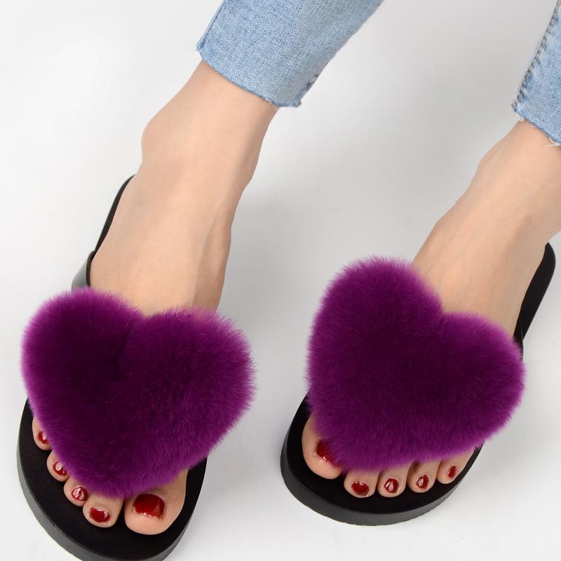 slipper real fur pompom (7)