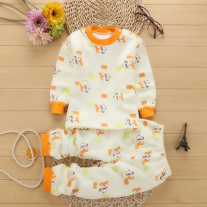 Top quality Pullover cotton Baby's Sets Winter Cartoon Baby girls boys clothes M1861-M1872 baby care top top