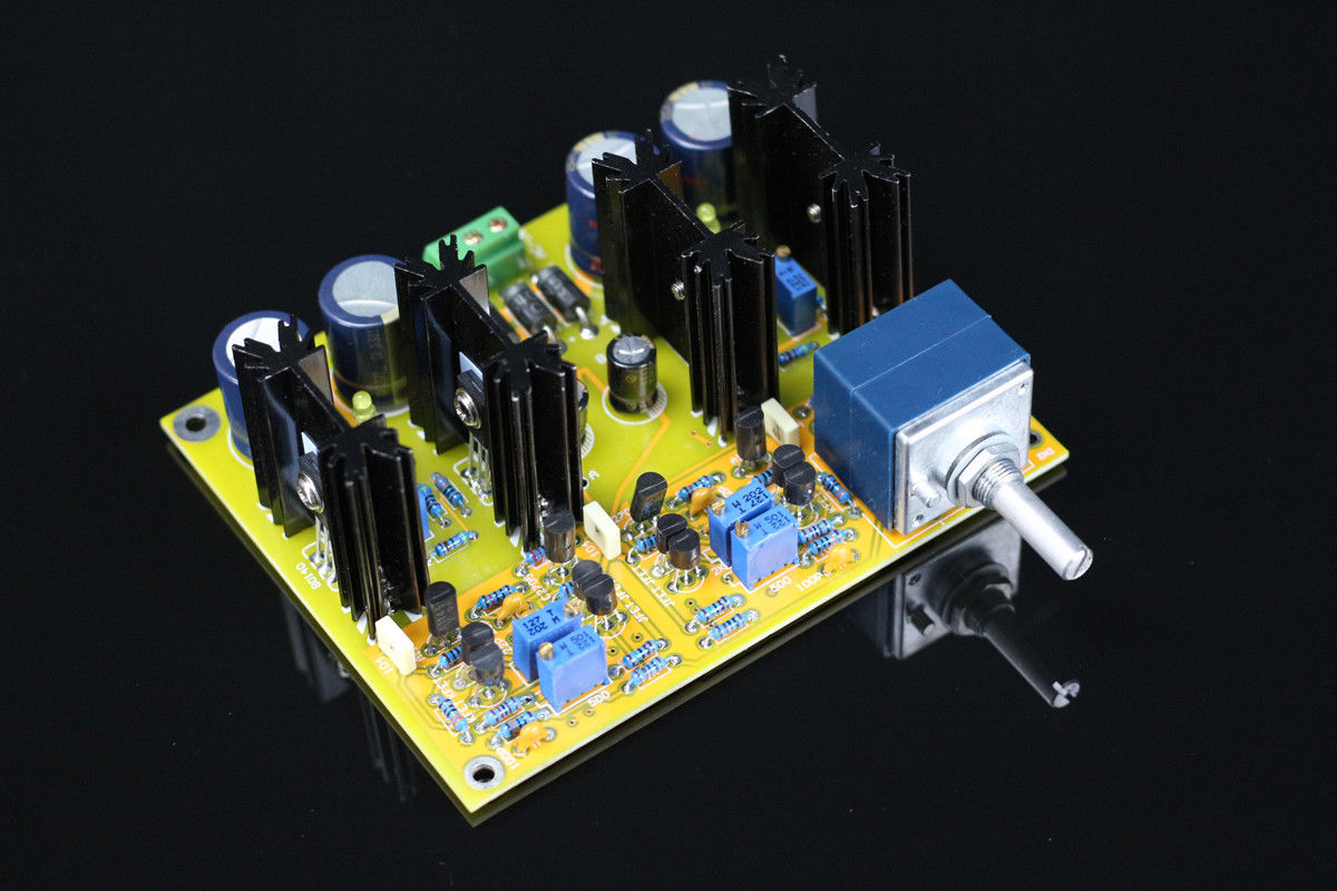 GZLOZONE HIFI Stereo Class A FET preamplifier board kit base on JC 2 circuit L9 18