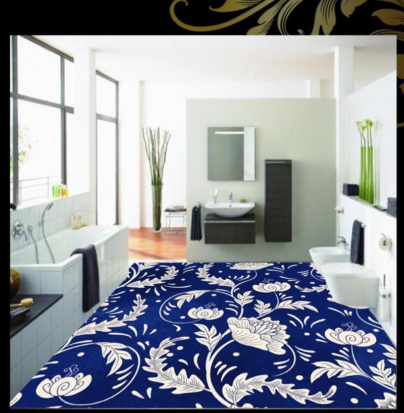 ФОТО PVC floor wallpaper pattern custom 3d paint flooring non-slip self-adhesive waterproof pvc plastic floor