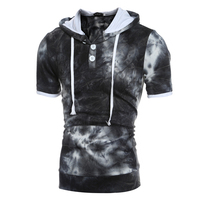 Men T Shirts 2017 Hot Male Brand Short Sleeve Slim Fit Hooded Tshirt Compression 3D Printed