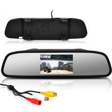 "4.3"" TFT LED Car Rearview Mirror Monitor 2-way AV Input Automatically Switch for Reversing Rearview Mirror Reverse Image Display"