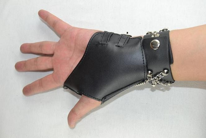 2018 новые красивые волчья голова браслет в стиле Punk Private для Manga наборы для ухода за кожей рук перчатки звено цепи байкер браслет черный клетку мужской браслет
