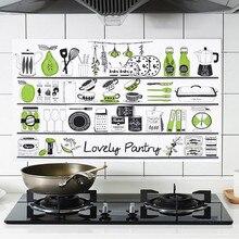 Анти-масляная наклейка толще алюминиевая фольга для кухни стикер для шкафа Водонепроницаемый самоклеющиеся обои домашний кухонный стикер стены