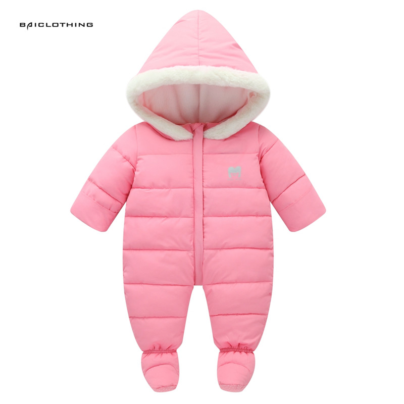 Baby Plus Velvet Rompers Winter Thick Boys Costume Girls Warm Infant Snowsuit Kid Jumpsuit Children Outerwear Baby Wear 0-18m цены