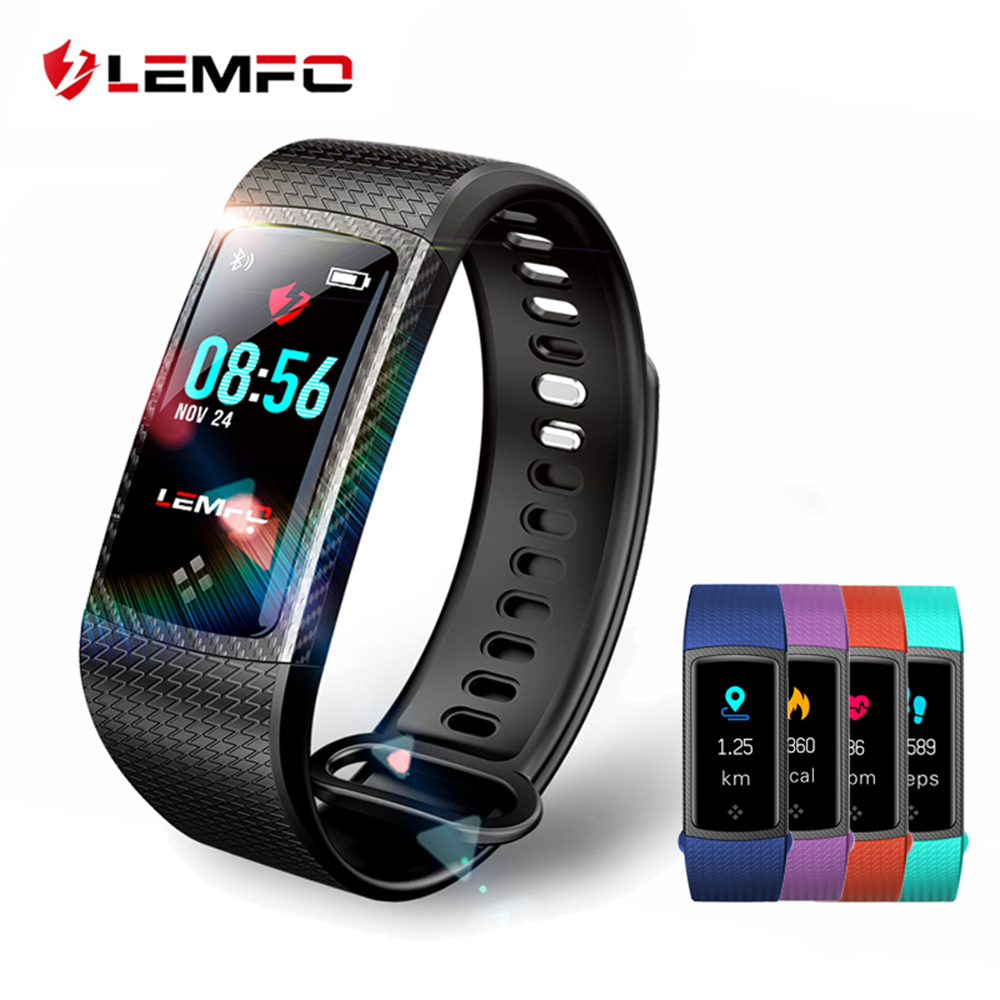 LEMFO LT01 Waterproof Color LCD Screen Heart Rate Monitor Fitness Watch With Memory Gps Activity Tracker Smart Band 2018 smart baby watch q60s детские часы с gps голубые