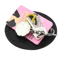 все цены на Car Ornament PVC Anti-Slip Mat Sticky Pad Automobiles Interior Dashboard Non Slip Mat For Phone Coin Sunglass Holder Accessories онлайн