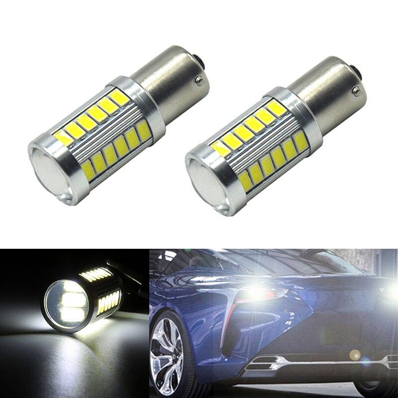 2x Car 1156 BA15S LED 360 degree backup reverse light lamp Bulbs For volvo xc90 xc60 v70 s80 s40 v60 c30 v50