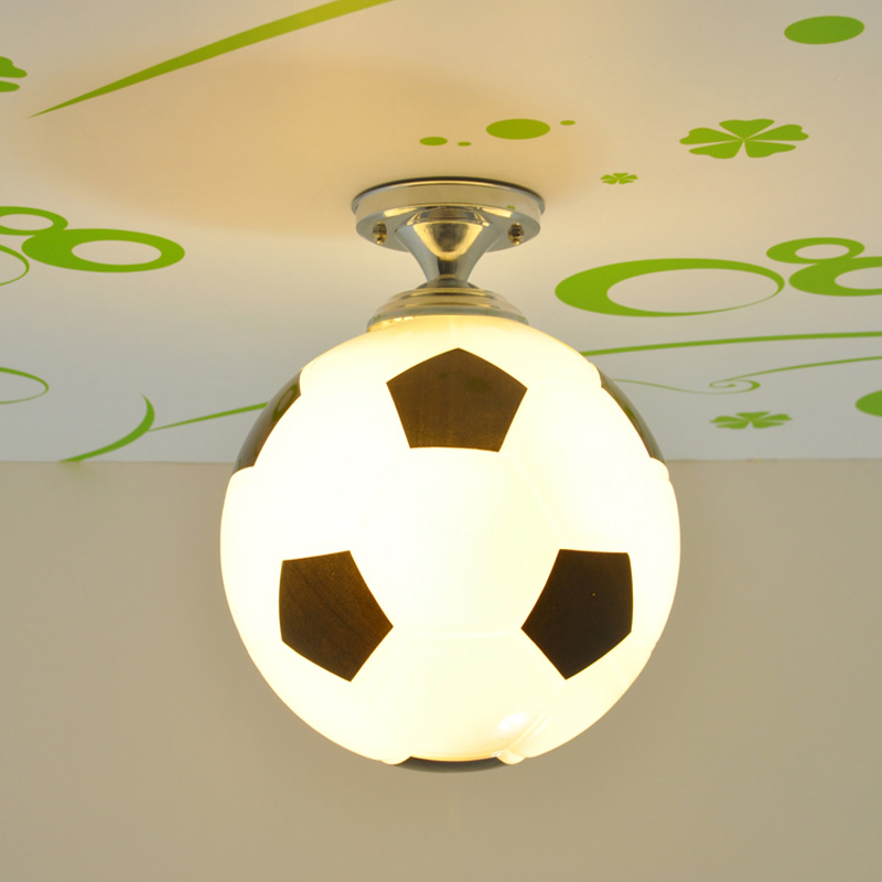 Fashion Boy's Room Football/Basketball Ceiling Lamp Cute Children's Bedroom Ceiling Lights Baby Room Ceiling Fixtures