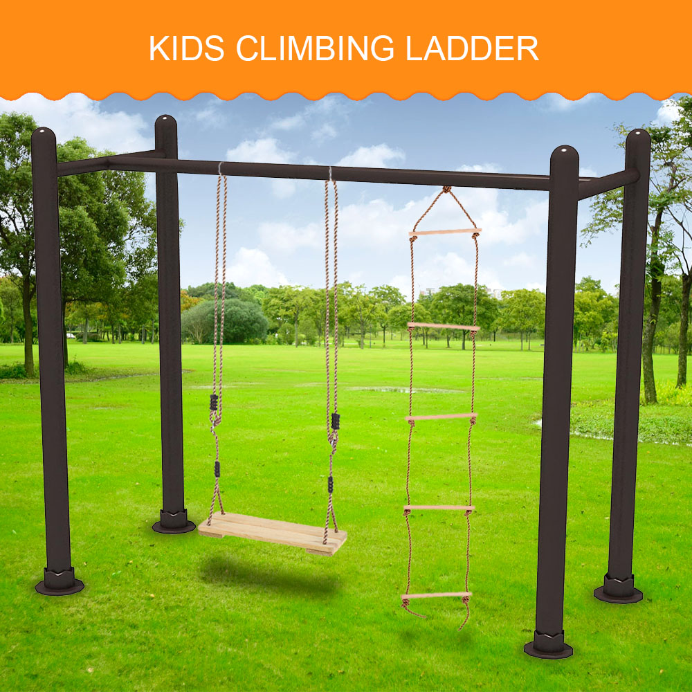 5 Rungs Children Toy Swing Sturdy Indoor Outdoor Rope Climbing Kids Playground Yard Toy Play Fun For Kids Climbing Rope Entertainment
