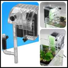 Aquarium Power Filter Waterfall Water Pump Circulation Fish Tank Hang On Slim Hang On Filter Mini External Hanging Freeze Noise