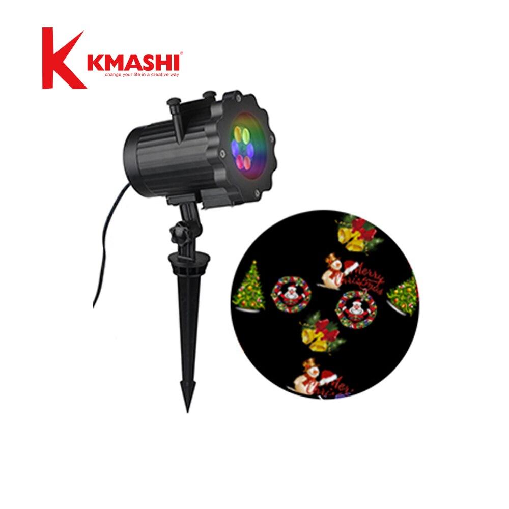 Kmashi 16 Pattern Slides Sparkling Laser Light Show Rotating Outdoor ...