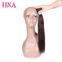 UNA Brazilian Hair Weaves 1/3/4 Piece Straight Remy Hair Bundles Light Brown Human Hair Weave Bundles